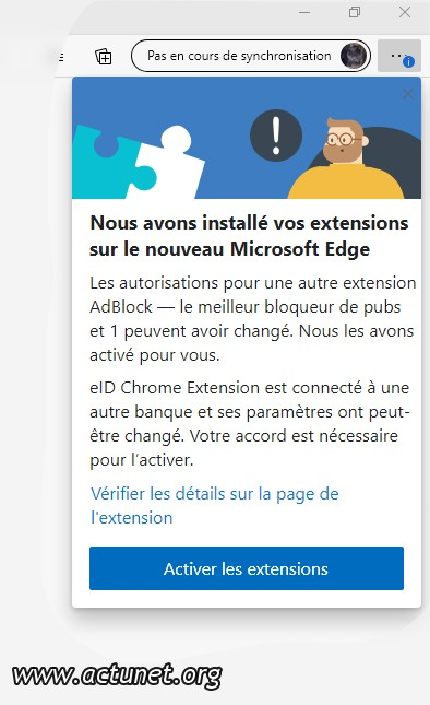 Activer extensions