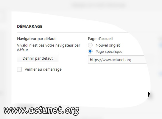 Page d'acceuil